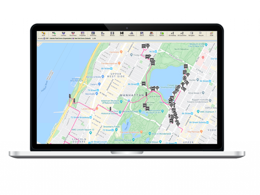 Photo of OSP external assets in New York shown on a Laptop